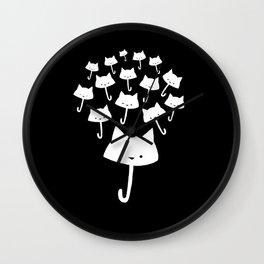 minima - cat rain Wall Clock