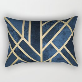 Art Deco Midnight Rectangular Pillow