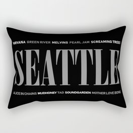 Seattle Grunge Rectangular Pillow