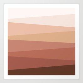 Earth colors geometry Art Print