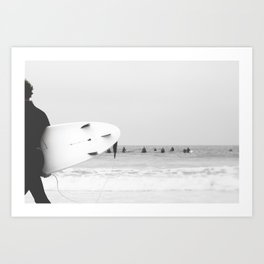 catch a wave II Art Print