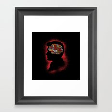 Dean's Phrenology Framed Art Print