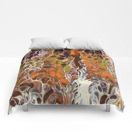 Autumnal ferns Comforters