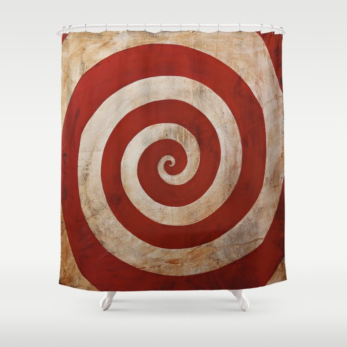 Sideshow Carnival Spiral Shower Curtain