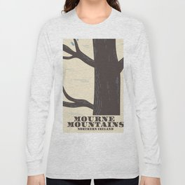 mourne mountains northern ireland travel poster Long Sleeve T-shirt