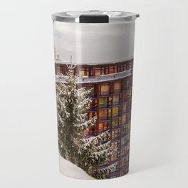 Mountain architecture colorful Travel Mug