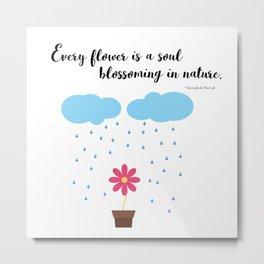Flower Quote Metal Print