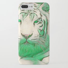 Green Tiger iPhone Case