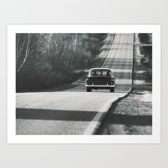 Cruising in the Coupe Art Print