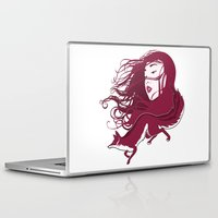 kitsune Laptop & iPad Skins featuring Kitsune by Stevyn Llewellyn