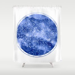 Northern Stars Shower Curtain