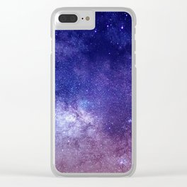 STARS - NIGHT - GALAXY - PURPLE - PINK - INDIGO Clear iPhone Case