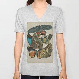 Art Nouveau Butterfly Unisex V-Neck