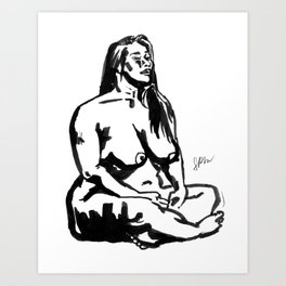 Ink Painting of a Singaporean Art Print