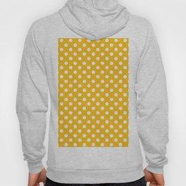 Amber Yellow and White Polka Dot Pattern Hoody
