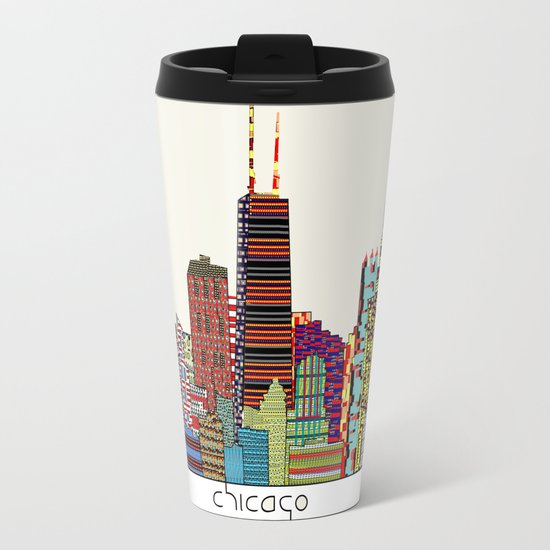 Chicago  Metal Travel Mug