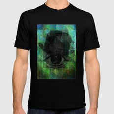 A VERY PRIVATE EYE Mens Fitted Tee MEDIUM Black