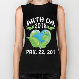 Earth day 2018 Shirt - support science save world Biker Tank
