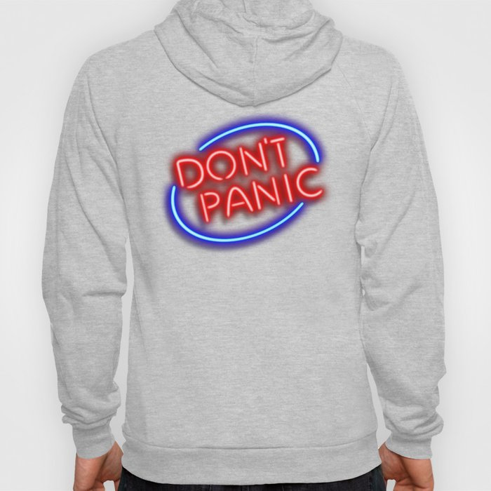 """Hitchhiker's Guide - """"Don't Panic"""" Neon Sign Hoody"""