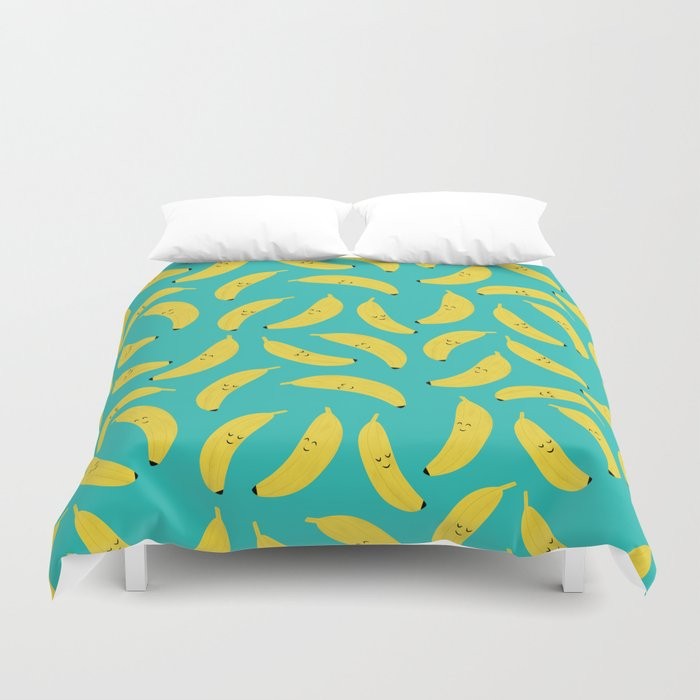 Happy Bananas Duvet Cover