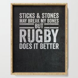 Rugby Player Gift Serving Tray