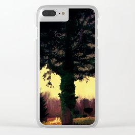 Old tree Clear iPhone Case