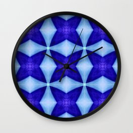 Blue Four Pointed Star-shine Wall Clock