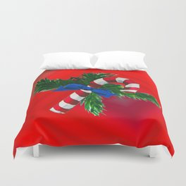 Christmas Candy Cane Duvet Cover