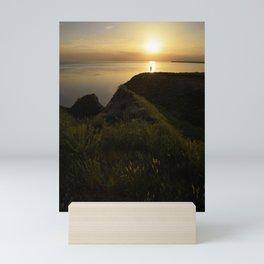 Watching how sun goes down.. Mini Art Print