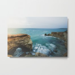 windy day and beautiful waves Metal Print