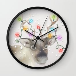 Christmas Reindeer Wall Clock