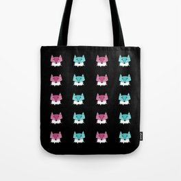 Neon Foxes Tote Bag