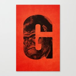 G is for Gorilla Canvas Print