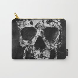 Vintage Skull BW Carry-All Pouch