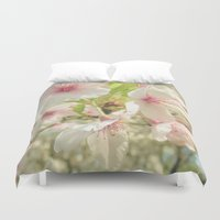 cherry blossom Duvet Covers featuring Cherry Blossom by Cassia Beck