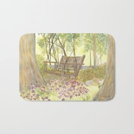 Bedrock Garden Spring on In and Out Pathway Bath Mat