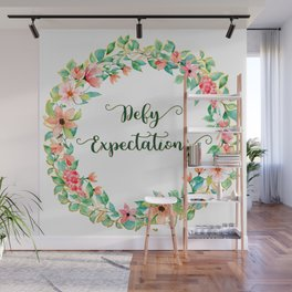 Defy Expectations - A Floral Print Wall Mural