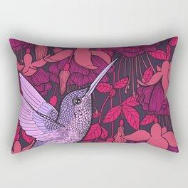 Hummingbird and fuchsia Rectangular Pillow