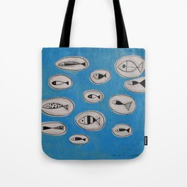 Sea of bubbles with fish / Mar de bombolles amb peixos Tote Bag