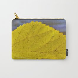 Lonely Yellow Leaf in the Rain by Reay of Light Carry-All Pouch