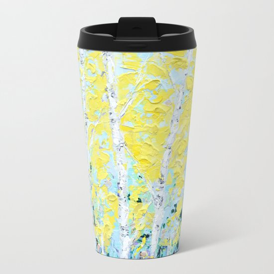 New England Paper Birch Metal Travel Mug