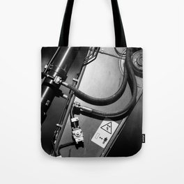 Arm of Power Industrial Hydraulic Digger System Tote Bag