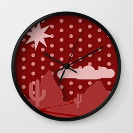 Red Desert Night Wall Clock