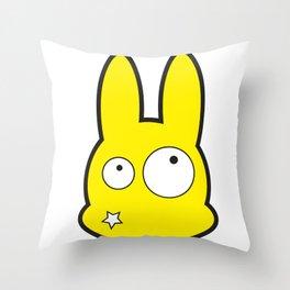 Bunny Star Throw Pillow