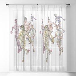 Naked Runners 2 Sheer Curtain