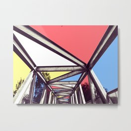 Bridge Mondrian Metal Print