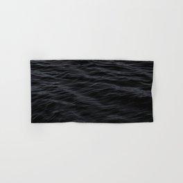 BLACK OCEAN PATTERN Hand & Bath Towel