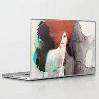 fashion illustration Laptop & iPad Skins featuring FASHION ILLUSTRATION 11 by Justyna Kucharska