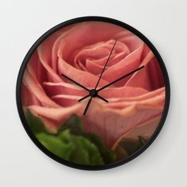 Rose for my wife Wall Clock