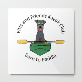 Kayak Club Metal Print